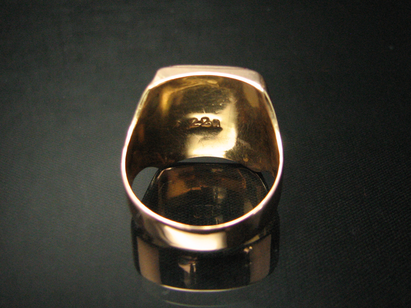 imposanter 22kt gelbgold freimaurer ring mit rubin ebay. Black Bedroom Furniture Sets. Home Design Ideas