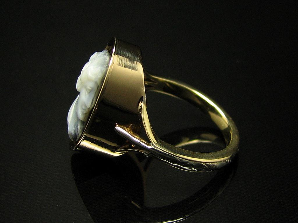 14kt gold gemme ring mit lagen onyx ebay. Black Bedroom Furniture Sets. Home Design Ideas