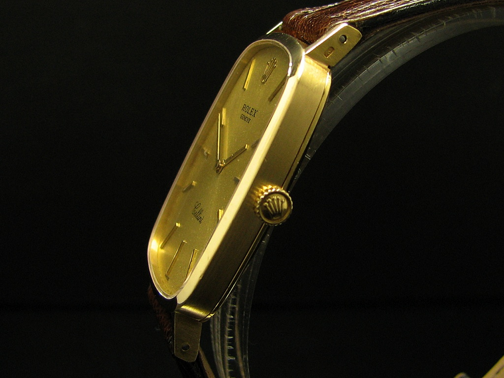 rolex cellini 18kt gold herrenuhr von 1976 ebay. Black Bedroom Furniture Sets. Home Design Ideas