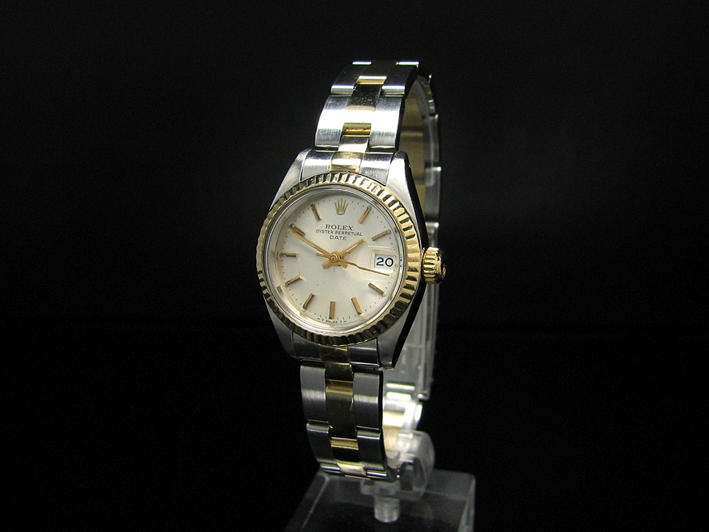 rolex oyster perpetual date damenuhr mit oyster armband ebay. Black Bedroom Furniture Sets. Home Design Ideas